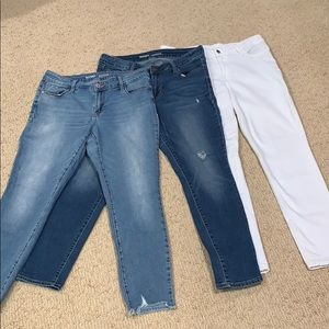 Old Navy RockStar skinny jeans- 3 pairs